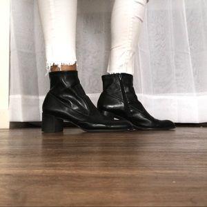 Franco sarto black square toe bootie